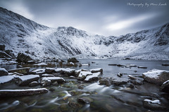 The Devils Kitchen [EXPLORED] (marc_leach) Tags: mountain snow snowdonia nationalpark lake water winter northwales llynidwal devilskitchen landscape glyderfawr
