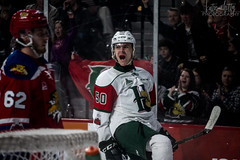Raphael Lavoie puts the mooseheads up 7-3 (DeWhit Photography) Tags: hockey halifaxmooseheads halifax hockeyplayer hockeyphotography halifaxmetrocentre hockeygame qmjhl mooseheads sports sportsphotography sportphotography sport scotiabankcentre chl canadianhockeyleague canon70d canon canonsports celly celebration