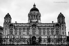Port of Liverpool Building (JKmedia) Tags: portofliverpoolbuilding liverpool front boultonphotography 2018 february blackwhite blackandwhite symmetrical edwardianbaroque grade ii listed architecture mersey waterfront