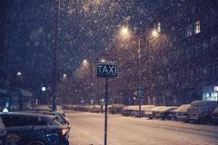 Taxi Stand (ewitsoe) Tags: snow taxi sign post warsaw canon eos 6dii 50mm heavysnow snowing winter zima poland warszawa polska city urban cityscape