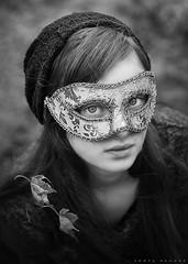 Masquerade (Sonya Adcock Photography) Tags: girl child kid photography childphotography family painterly portrait poetry poetic story nikon nikond700 nikkor nikkor105mmdc childhood fineart fineartphotography art sonyaadcockphotography monochromatic blackandwhite bw mask