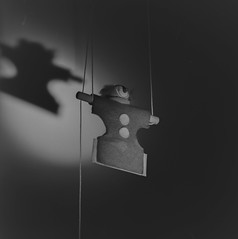 The stuff nightmares are made of (photosinphotos) Tags: hasselblad hp5 sony rx1 ilfosol 3 clown puppet nightmare strings buttons
