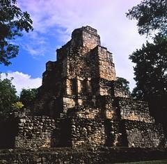 Ruins of Muyil (karstenphoto) Tags: rollei 6x6 filmisalive velvia50 fujivelvia fujifilm rolleiflex castillo mayanruins mayan maya ruins mexico muyil film analog