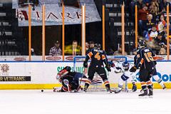 "Kansas City Mavericks vs. Florida Everblades, February 18, 2018, Silverstein Eye Centers Arena, Independence, Missouri.  Photo: © John Howe / Howe Creative Photography, all rights reserved 2018 • <a style=""font-size:0.8em;"" href=""http://www.flickr.com/photos/134016632@N02/40387900211/"" target=""_blank"">View on Flickr</a>"