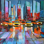 2086 - Taxi pour Broadway NY - 80x80