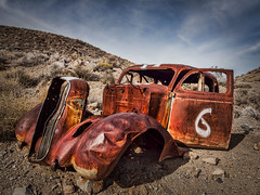 Abandoned race car, Death Valley, CA (Trent9701) Tags: california deathvalley trentcooper vacation desert nationalparks travel