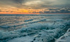 Sunset on ice #7 (tquist24) Tags: hdr lakemichigan michigan nikon nikond5300 stjoseph clouds cold evening geotagged ice lake pier sky snow sunset water winter saintjoseph unitedstates