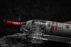 Doppelkorn (markus.bank) Tags: instadaily tabletop tamron flasche stillife canon picoftheday bilddestages rollei rot stillleben 2018 colorkey photo photooftheday projekt365 lightroom flickr