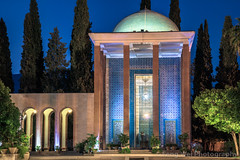 Tomb of Saadi, Shiraz, Fars Province, Iran (Feng Wei Photography) Tags: islamicculture persianculture middleeast islam persian landmark colorimage tomb builtstructure islamic unesco famousplace iran iranianculture travel traveldestinations tourism shiraz outdoors tombofsaadi unescoworldheritagesite horizontal architecture farsprovince irn mausoleum night illuminated dome