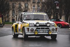 Renault 5 Turbo (antoinedellenbach.com) Tags: worldcars classic car racing circuit france canon eos automotive classiccars automobiles vintage automobile sport festival lightroom usm coche detail paris frenchcar traverseedeparis invalides placevauban renault r5 renault5 turbo alpine 6d 70200