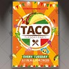 Taco Tuesday - Mexican Flyer PSD Template (psdmarket) Tags: fastfood flyer mexican mexico promo promotion psd restaurant taco tacotuesday tacos tuesday tuesdays