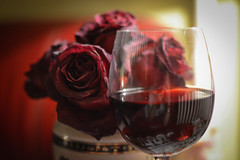 rose & wine (vladobgd) Tags: rose wine red crveno ruze vino 35mm lens