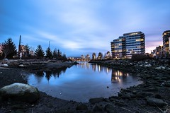 January 25, 2018. (Amanda Catching) Tags: today longexposure light city skyline vancouver false creek