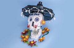 Calavera (svenfranic) Tags: skull muertos dayofthedead diadelosmuertos sombrero lego moc