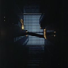 Illusion of blue  (HASSELBLAD 500C/M) (potopoto53age) Tags: illusionofblue illusion blue building blueglass glass shinjyukunsbuilding 新宿nsビル hasselblad500cm hassel hasselblad 500cm carlzeissdistagon50mmf40 carlzeiss zeiss distagon 50mm f40 6x6 film mediumformat squareformat square epsongtx970 epson gtx970 fujifilmreala100 fujifilm reala shinjyuku tokyo japan potopoto53age bluewindow window