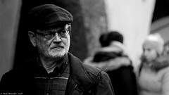 The sidelong glance. (Neil. Moralee) Tags: austria2018neilmoralee neilmoralee man street candid sidelong glance eye eyes cap glasses beard stubble old mature innsbruck austria contrast portrait face men male austrian black white bw bandw blackandwhite whiteandblack mono monochrome nikon d7200 neil moralee stare people outdoor view spectacles lens scarf cold