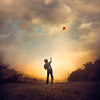 Lost ({jessica drossin}) Tags: jessicadrossin portrait kite photography clouds child back lost wwwjessicadrossincom childhood flying