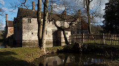 Baddesley Clinton (Nick:Wood) Tags: baddesleyclinton warwickshire nationaltrust moat trees pool water reflection house manorhouse