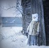 Winter day (olgafler) Tags: winter window girl village home oldhouse cool whitedress
