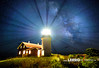 Seguin Island Lighthouse: Bath, Maine (Lerro Photography) Tags: lighthouse seguin island maine beam beacon night nighttime nightsky sky long exposure longexposure stars star milky way milkyway bath bathmaine