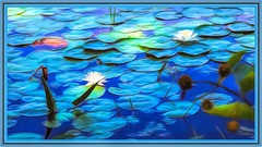 hello i know you (larrynunziato) Tags: floral pond pod mixedmedia digitalpainting coart exoticimage sockofthenew awardtree water lilly lillies