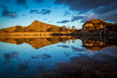 Cawfield Reflected (RichySum77) Tags: blue gold reflection northumberland canon eos 80d pond crag hadrians wall quarry uk england