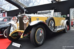 Rolls Royce Phantom I Tourer 1929 (Monde-Auto Passion Photos) Tags: voiture vehicule auto automobile rollsroyce rolls royce cabriolet convertible roadster spider phantom tourer rare rareté yellow jaune ancienne classique vauban vente enchère sothebys france paris