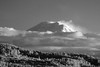 Mt Rainier poking through the clouds today (dgbrown) Tags: sony a6300 70200gm ir infrared mt rainier mount mountain trees clouds 093