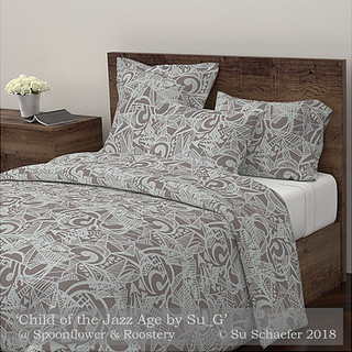 Design Challenge Entry: 'Child of the Jazz Age by Su_G': Duvet cover mockup