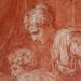 PRIMATICE - Jacob prenant la Main d'Isaac présenté par Rébecca (drawing, dessin, disegno-Louvre INV8512) - Detail 15