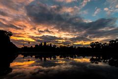 Angkor Wat before sunrise (_gate_) Tags: angkor wat sunrise before december 2017 capital temple អង្គរវត្ត sunset cambodia siem reap kambodscha khmer buddhist asia south east travel nikon d750 2485mm afs vr nd1000 haida long exposure landscape architecture 2016 fluss wasser gras himmel park baum heiter holz wald see brücke personen rise sun cloud clouds wolken der frühe wurm fängt den tamron 1530mm vc wide angle weitwinkel porn cloudporn gate city trip