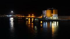 Harbour view (Steenjep) Tags: madeira portugal ferie holiday urlaub portosanto harbour watersea night light reflex