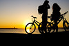sunset (HiROaK SaNEyoCiy) Tags: porto portugul sunset siluet sky bycicle bicycle 2017 pentax k3ⅱ 1685 europe euro sea ocean