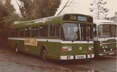 Acq. photo - Southdown 66 WYJ166S . Emsworth c. Sept. 1979 . (busmothy) Tags: wyj166s southdown 66 emsworth lcd242f ln nbc leylandnational