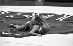 BRO-STA 149 2018-01-13 DSC_8173 bw (bix02138) Tags: brownuniversity brownbears stanforduniversity stanfordcardinal pizzitolasportscenter pizzitolasportscenterbrownuniversity providenceri january13 2018 wrestling sports intercollegiateathletics athletes jocks ©2018lewisbrianday 149pounds 149 zachkrause jakebarry