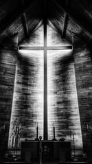 trials and tribulations... (HSS) (BillsExplorations) Tags: blackandwhite cross church altar religion faith trials tribulations dark illinois sterling abstract slide sliderssunday hss hardtimes