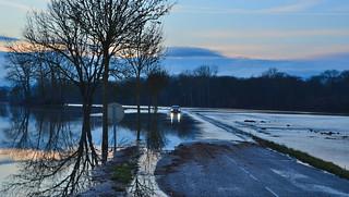 Le Ried : Les crues de la tempête Eléonor  - The floods of the storm Eléonor