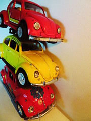 (Pressed Happy Flower) (SoS) (seanwalsh4) Tags: smileonsaturday stacked bugs vw toycars canon scrapyard beetles red yellow 7dwf crazytuesdaytheme smalltoys