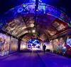IMG_5652 (Kathi Huidobro) Tags: urban streetphotography afterdark nightlife southbank southlondon architecture spotlights colours tunnel london lightingdesign lighting graffitiart leakestreet streetart