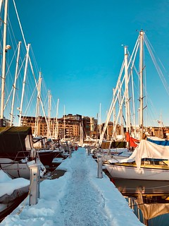 Sailboats storages for the winter