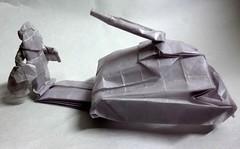 ORIGAMI - TANK MAN!! (Neelesh K) Tags: origami tank paperfolding man chinese protest box pleating neelesh k
