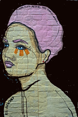 El Bocho I walked along the road. When .... (Marco Braun) Tags: streetart graffiti schwarz colourful coloured farbig bunt couleures face gesicht opart 2015 walart urbanart elbocho schablone pochoire stencil hamburg berlin deutschlandgermanyallemagne