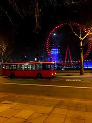 Night life.. DP1024 KP02PVF (kizmanbusesco) Tags: kp02pvf dp1024 bus thames red seelondonbynight londoneye bearbuses metroline exarmchair dualdoor 2 pointer plaxton dart dennis