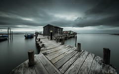 The shelter (marcolemos71) Tags: seascape hightide water oldpier wood boat sky clouds way lowpov pov fishingpier carrasqueira comporta longexposure leefilters theshelter marcolemos