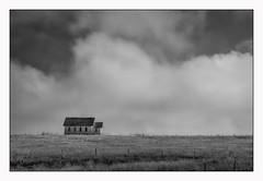 prairie church (Rick Olsen) Tags: church bw monochrome