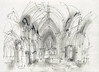 Lichfield Cathedral (_jondixon) Tags: drawing cathedral pencil paper sketchbook architecture gothic uk church location sketch