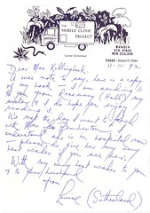Louise Sutherland Letter. (Paris-Roubaix) Tags: louise sutherland the impossible ride longdistance cycling amazon jungle amazonian trail brazil new zealand bicycle touring adventure cyclist mobile clinic project