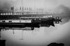 Quiet times (jmiller35) Tags: digital canon docks boats barge river water outdoors morning mist fog seascape albertdock liverpool blancoynegro bw blackandwhite