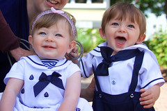 Double trouble (Sarah Sonny) Tags: twins twin fraternal brotherandsister siblings children child kids toddlers cute smiling babies portrait