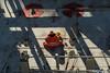 Relaxing in the cold sun (CMA CGM Alexander von Humboldt) Tags: hamburg hafen waltershof containerterminal terminal burchardkai harbour port containerbrücke gantry crane containervessel containerschiff containership gangway container teu sea meer upperdeck navigation brücke welcome bord boxship freighter big gigant large willkommen frachtschiff frachter crew mannschaft tug tugboat bugsier schlepper hafenschlepper morgenlicht morninglight lashing boxes twistlock vancarrier tetris mooring cma cgm alexander von humboldt kommandorücke nautical bridge reflection lights darkness dunkelheit lichter spiegelungen stapeln ausblick panorama view travelling journey aussichtsturm aussicht seamen seefahrer
